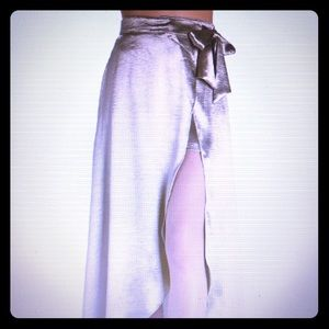Boston Proper Metallic Wrap Skirt. New Never Worn